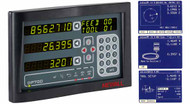 """NEWALL Digital Readout DP700 for Mills, Lathes and Geometric Functions, 12"""" x 30"""" Travel, 2 Axis Milling Machine Package  - DP703-3"""