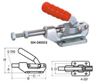 Good Hand Push/Pull Toggle Clamp, Holding Capacity: 800 lbs | Plunger Stroke: 1.63 - GH-36010