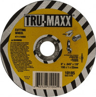 "TRU-MAXX Cut-Off Wheels for Right Angle Grinders, 6"" 60 Grit Aluminum Oxide Cutoff Wheel - 64-164-7"