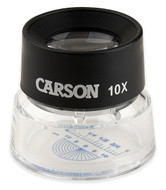 Carson LumiLoupe 10X Stand Magnifier with Reticle - LL-20