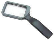Carson 2X Handheld Rectangular Magnifier with 6.5X Spot Lens - JS-18
