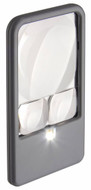 Carson LED Lighted 6x/4.5x/2.5x Pocket Magnifier - PM-33