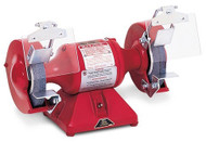 Baldor Big Red Grinder, 7 Inch Wheels, 1/2 HP, 3600 RPM, 1-Phase, 115V, with Exhaust Type Wheel Guards - 712RE