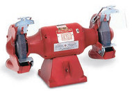 Baldor Big Red Grinder, 8 Inch Wheels, 3/4 HP, 3600 RPM, 1-Phase, 115/230V, with Exhaust Type Wheel Guards - 812RE
