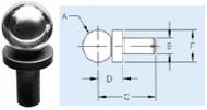 TE-CO Precision Slip Fit Shoulder Balls - 10851-1