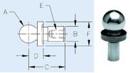 "TE-CO Premium Short Shank Inspection Ball 1"" - 10612"