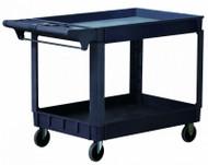 "Astro Pneumatic Industrial Heavy Duty Plastic 2 Shelf Utility Cart, 36"" x 24"" - 8338"