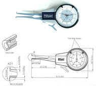 """Dyer """"Classic"""" Direct Reading ID Groove Gage, with Range Range: 0.2 - 0.6"""" - 104-102"""