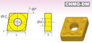 Precise CNMG/DM DIAMOND NEGATIVE RAKE CARBIDE INSERTS