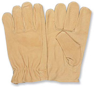 PRO-SAFE Driver's Gloves Unlined Style, Grain Pigskin Leather, Size Medium - 96-494-0