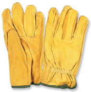PRO-SAFE Driver's Gloves Unlined Style, Split Leather, Size Medium - 96-463-5