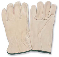 PRO-SAFE Driver's Gloves Unlined Style, Top Grain Cowhide Leather, Size Large - 96-461-9