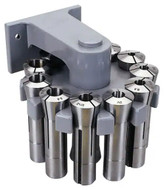 "Interstate 11 Pc. R8 Collet Set (1/8 to 3/4"") with Rotating Rack - 90-516-6"