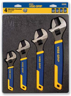 Vise-Grip 4 Pc. Adjustable Wrench Tray Set - 93-398-6