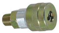 "Jupiter Pneumatics 1/4"" Male NPT Schrader Twist-Lock Interchange Pneumatic Coupler 2342082511JP - 51-778-9"