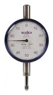 "Teclock Dial Indicator, 0.250"" Range, 0-50-0 Reading - 26-303-8"