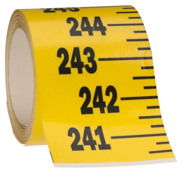 Mylar Adhesive Backed Rule, Vertical, Bottom to Top, 1/4