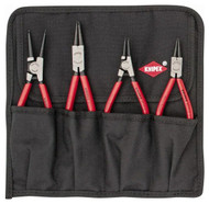 "Knipex Retaining Ring Pliers Set, Internal/External, 4 Pieces, 1/2 to 2-1/2"" Bore, 3/8 to 2-1/2"" Shaft - 97-624-1"