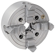"""Bison 4-Jaw Independent Lathe Chuck, 16"""" Size, A2-11 Spindle - 7-851-1619"""