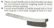 Lutz Curved Handle Wire Scratch Brush, Carbon steel wire 4 x 18 rows - 20032-1
