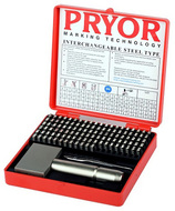 "Pryor Alphanumeric Imperial Fount Set, 2.5 mm (3/32"") - TIFH025"