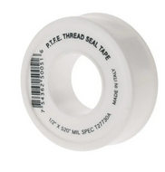 """Value Collection 1/2"""" Wide x 520"""" Long General Purpose Pipe Repair Tape -450 to 550°F, White - 52-243-3"""