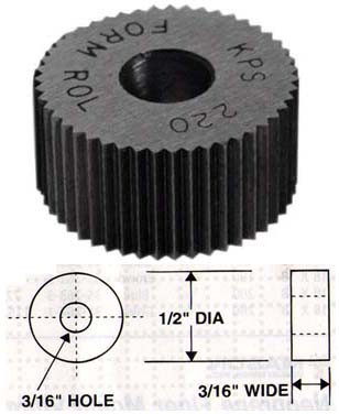 Diametral Pitch Knurl, LH Diagonal, Cobalt, 160 - 35-618-8