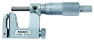 Mitutoyo Uni-Mike Micrometer, Interchangeable Anvil Type, 0-25mm w/ Ratchet Stop - 117-101