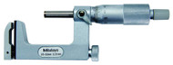 Mitutoyo Uni-Mike Micrometer, Interchangeable Anvil Type, 25-50mm w/ Ratchet Stop - 117-102