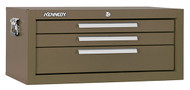 "Kennedy 26"" 3-Drawer Mechanics' Chest Base, Brown Wrinkle - 2603B"