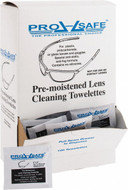 PRO-SAFE (100) Antifog, Antistatic Lens Cleaning Towelettes, (100 Packs Per Dispenser) - 56-174-6
