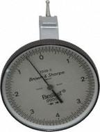 "Brown & Sharpe BesTest Indicator, Horizontal End Mount 1-1/2"" Dial - 599-7038-3"