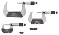 "Fowler 0-3"" Swiss Style Micrometer Set - 52-229-213-0"