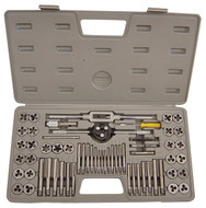 "High Speed Steel Tap & Die Set TDS-9560, 60 Piece, #4 Thru 1/2"", M3 Thru M12 & NPT - 12-000-105"
