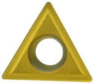"""Everede Indexable Carbide Turning Insert, 60° Triangle TPGH-215, 0.016"""" Radius, Grade CVM2 - 24-570-613"""