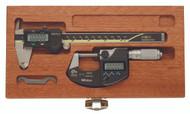 """Mitutoyo 6"""" Digital Caliper & 1"""" Digital Micrometer Set 64PKA077 - 57-016-700"""