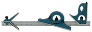 "PEC 4-Piece Combination Square Set U-36X, 18"" Length, 4R, Reversible Protractor Head - 57-020-324"