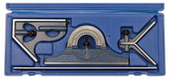 "PEC 4-Piece Combination Square Set U-40X, 12"" Length, EM, Reversible Protractor Head - 57-020-328"