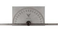 PEC Tool Model #5190 Rectangular Head Protractor with Graduated Rule - 57-064-904