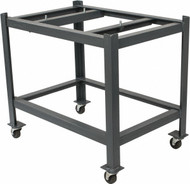 """Precise Heavy Duty Steel Stand w/ Rollers, 24"""" x 36"""" for Granite Surface Plates - STC-200"""