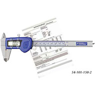 "Fowler 6""/150mm Xtra-Value Cal Electronic Caliper with Reg Display - 54-101-150-2"