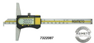 "Asimeto Digital Depth Caliper with Single Hook 0-8"" Range - 7322087"