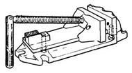Cardinal Half Nut w/ Mounting Screw for No. 554-8BV Vise - 8-BHN