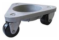 BOND Material Handling Super Duty Dolly, Model 3310 w/ Hard tread, black solid rubber wheels - 3310-HT