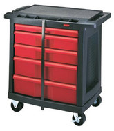 Rubbermaid 5-drawer Mobile Work Center - 63-032-7