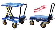 Vestil Polyurethane Tire Hydraulic Elevating Carts