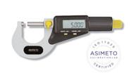 Asimeto Economic Digital Outside Micrometers, 4 Piece Set - 7116641