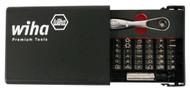 "Wiha Security Bits Collector with 1/4"" Ratchet 39 Piece Set - 71988"