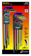 """Bondhus Ball End L-Wrenches ColorGuard Finish, Pieces: 22 