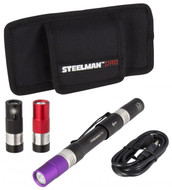 Steelman Dual Head Rechargeable LED Flashlight Kit - 78719
